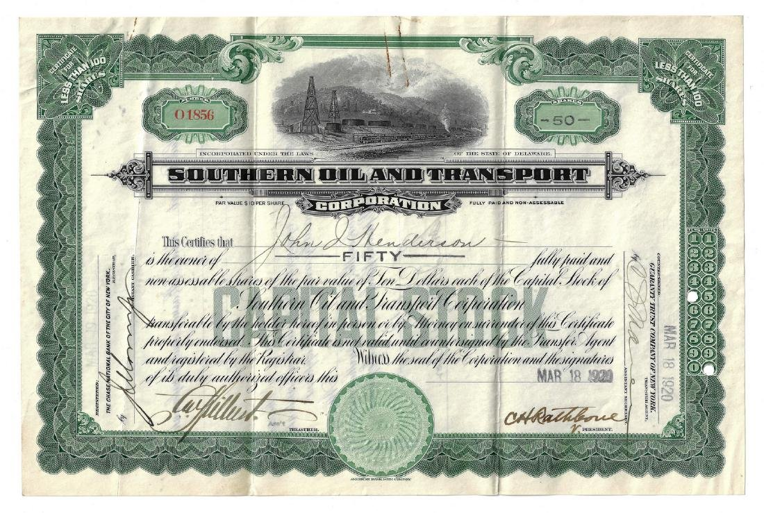 14 Stock Certificates inc. Duesenberg, 18 items - 18