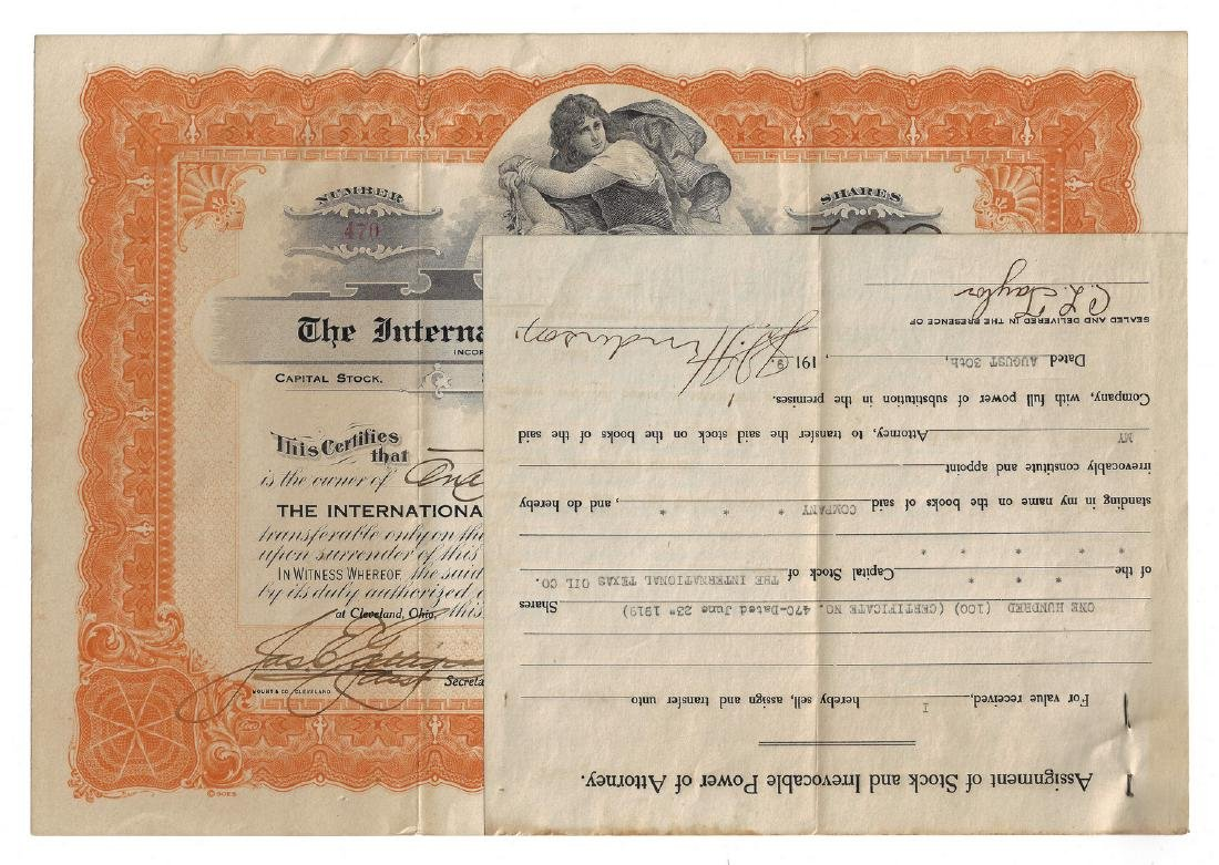 14 Stock Certificates inc. Duesenberg, 18 items - 2