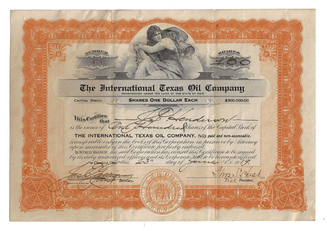 14 Stock Certificates inc. Duesenberg, 18 items - 3