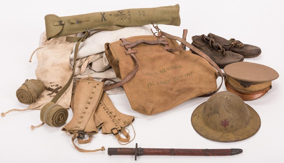 13 WWI U.S. Military Equipment Items, J. A. Newman