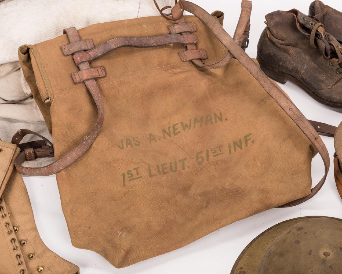 13 WWI U.S. Military Equipment Items, J. A. Newman - 4