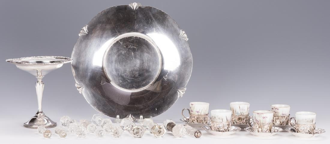Sterling Silver Table Items & 12 Cut Glass Items - 2