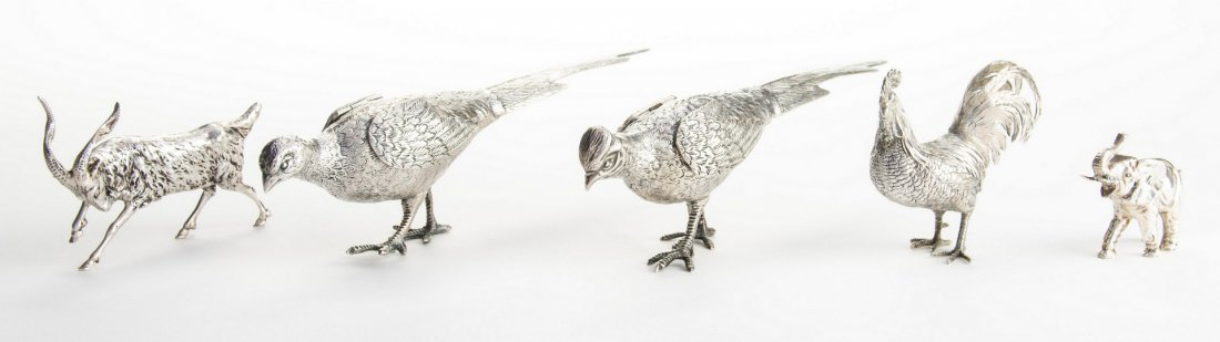 5 Silver Animals and Birds