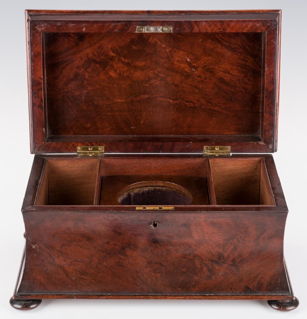 Large Regency Sarcophagus Tea Caddy - 10