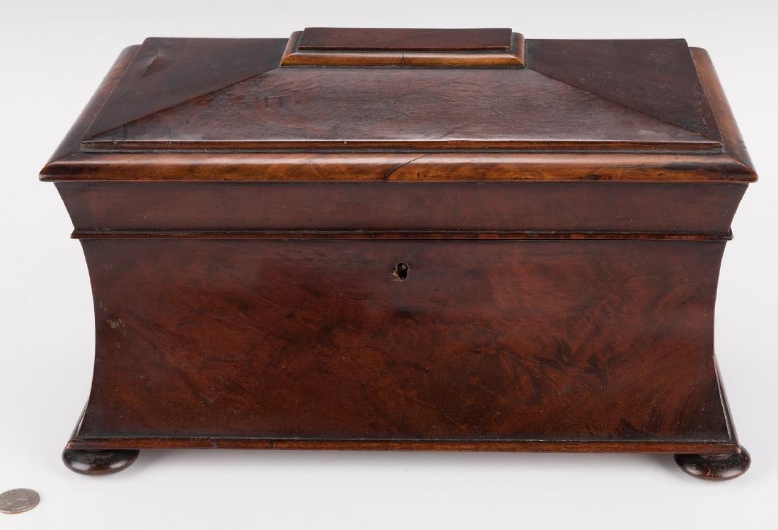 Large Regency Sarcophagus Tea Caddy - 2