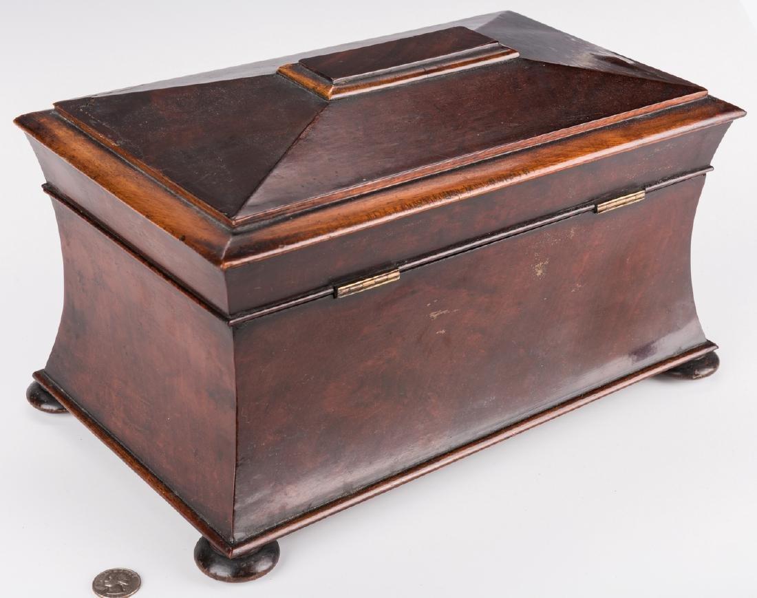 Large Regency Sarcophagus Tea Caddy - 4