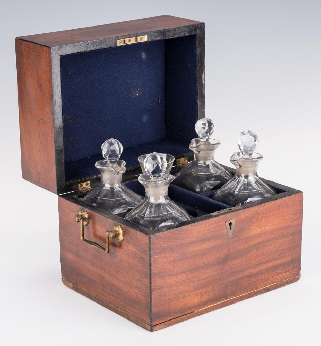 Tantalus, Mahogany Case and Bottles - 2