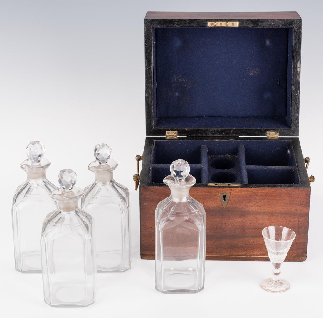 Tantalus, Mahogany Case and Bottles - 5