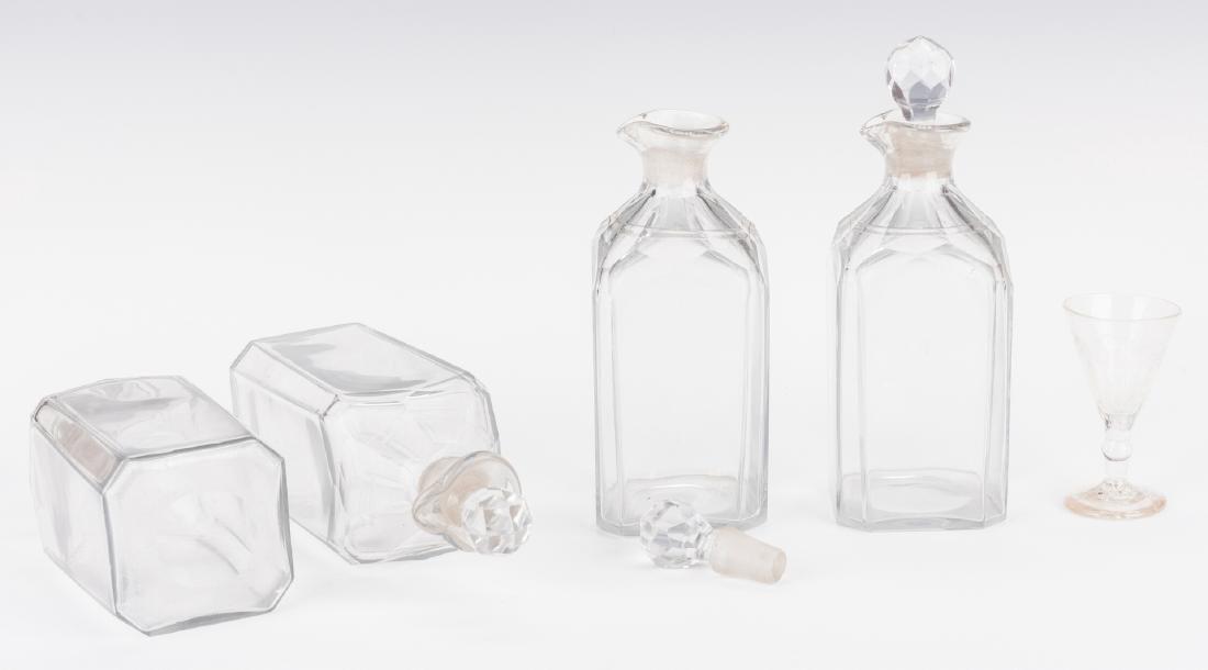 Tantalus, Mahogany Case and Bottles - 6
