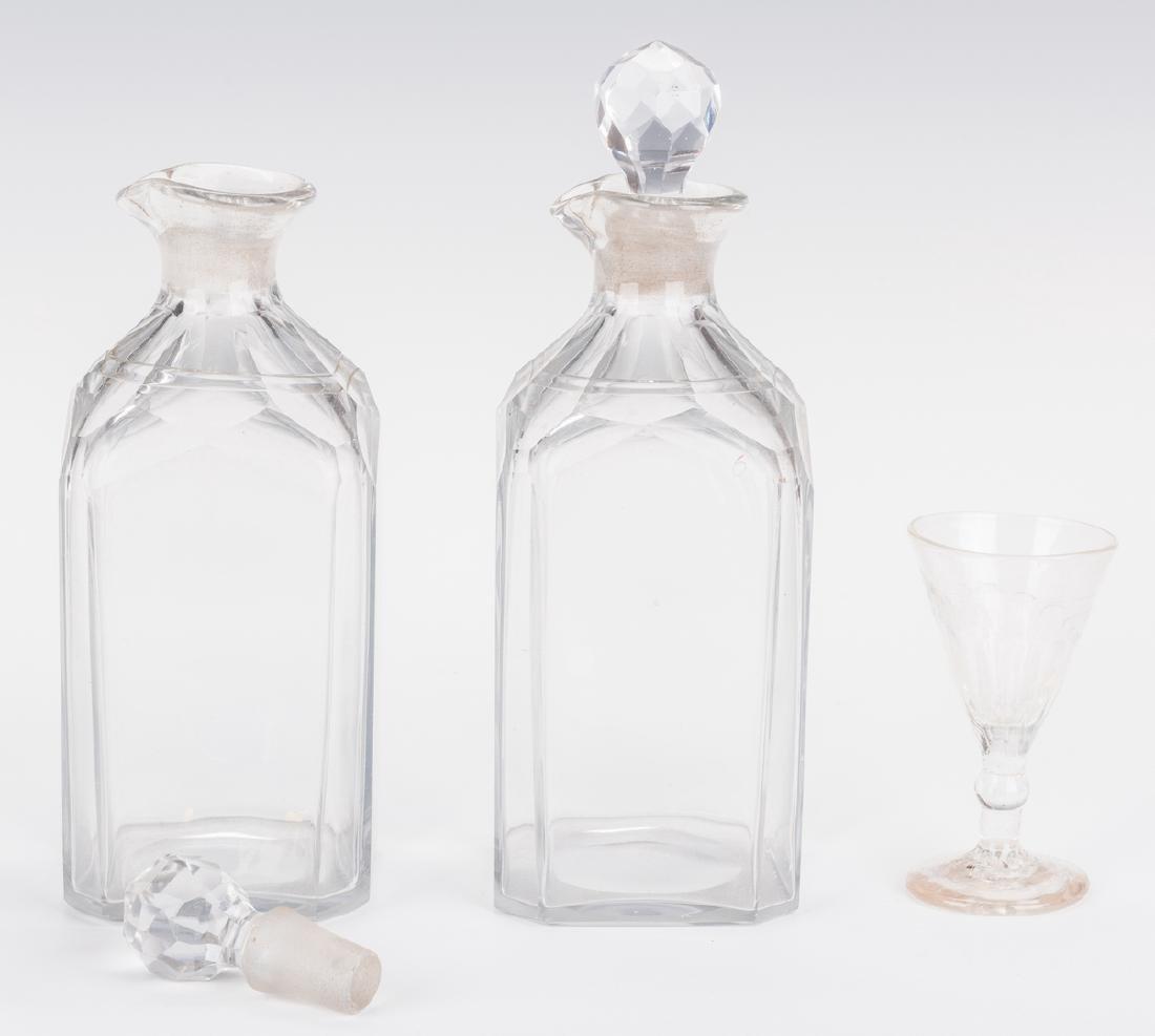 Tantalus, Mahogany Case and Bottles - 7