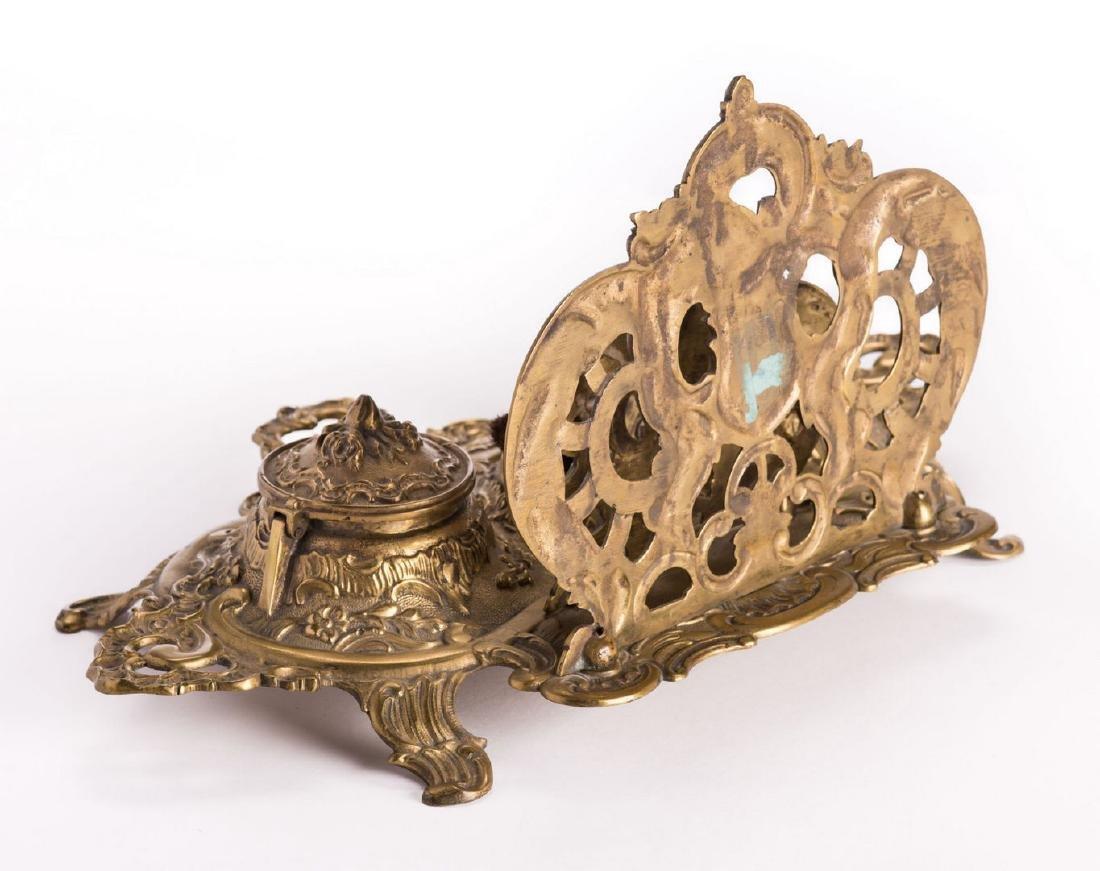 French Bronze Desk Set, 4 pcs - 6