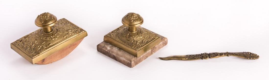 French Bronze Desk Set, 4 pcs - 9