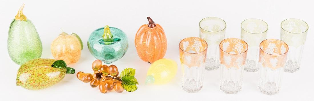 Group of Decorative Glass Items & Tray, 14 pcs. - 2
