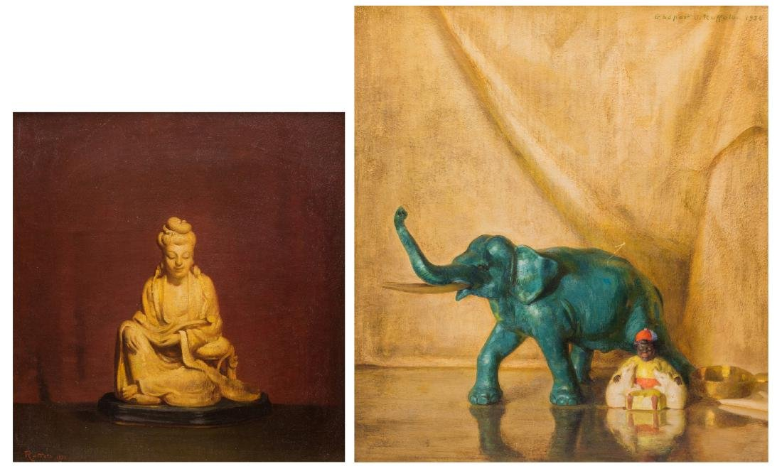 2 Gaspere Ruffolo O/B Asian Still Life Paintings