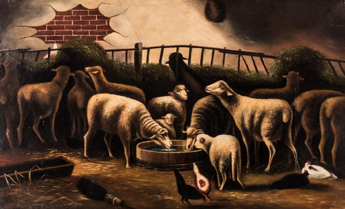 American School, O/C, Flock of Sheep