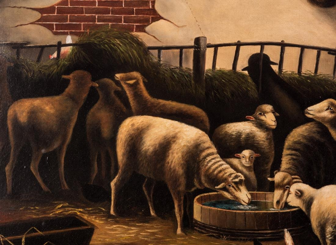 American School, O/C, Flock of Sheep - 4
