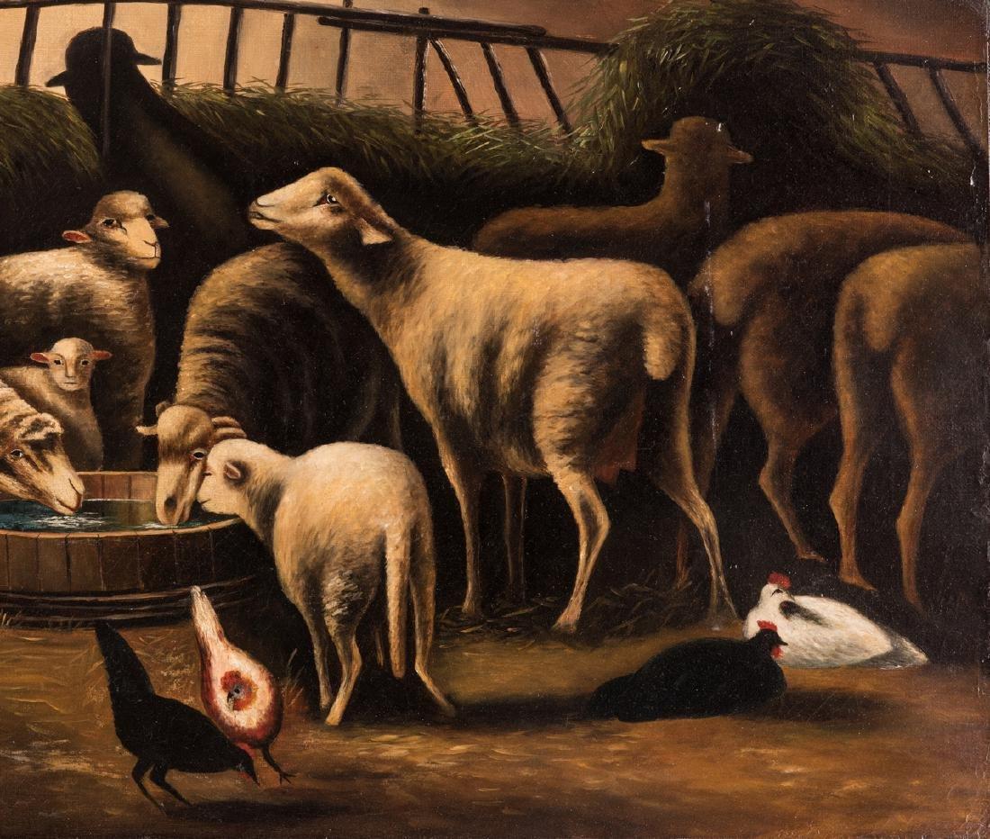 American School, O/C, Flock of Sheep - 5