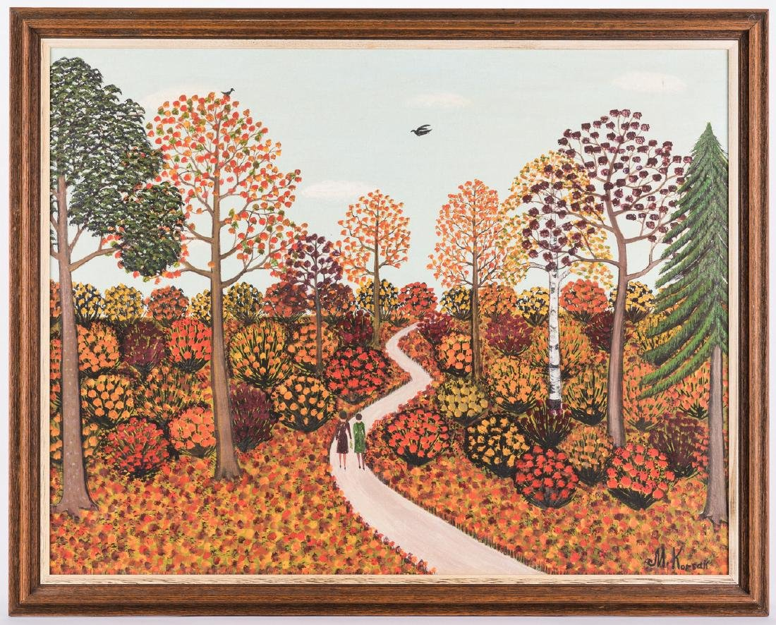 M. Korsak Painting - Autumn Landscape