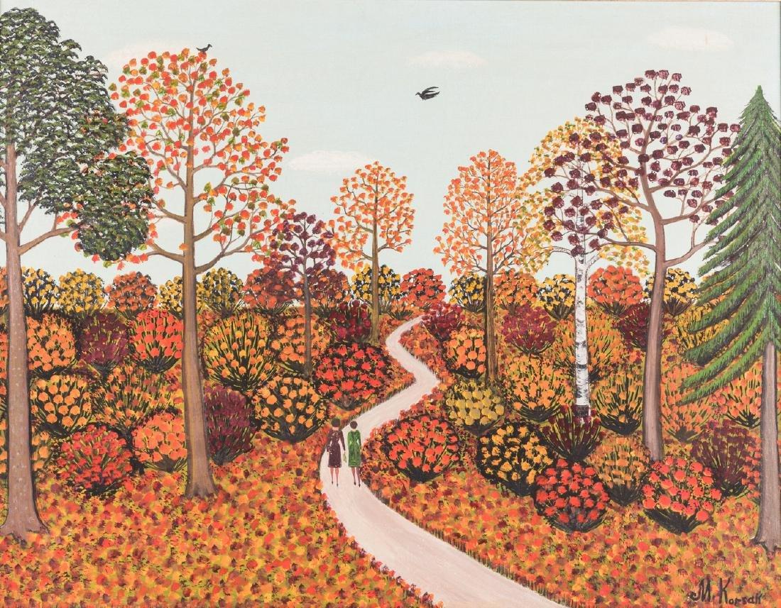 M. Korsak Painting - Autumn Landscape - 2