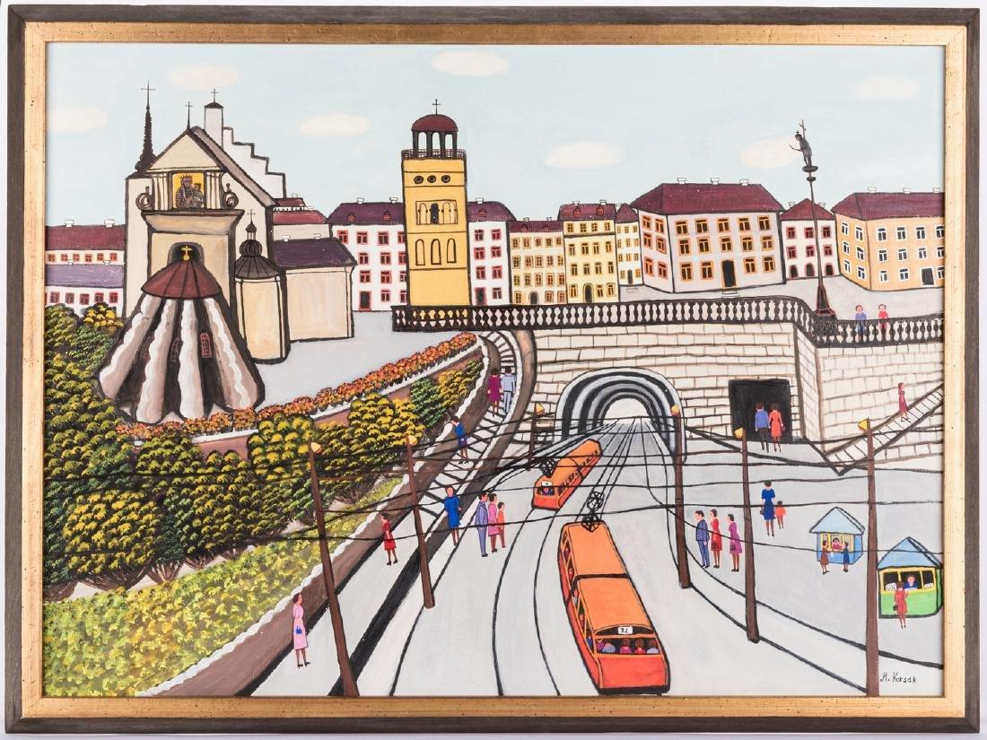 M. Korsak Painting  - Cityscape