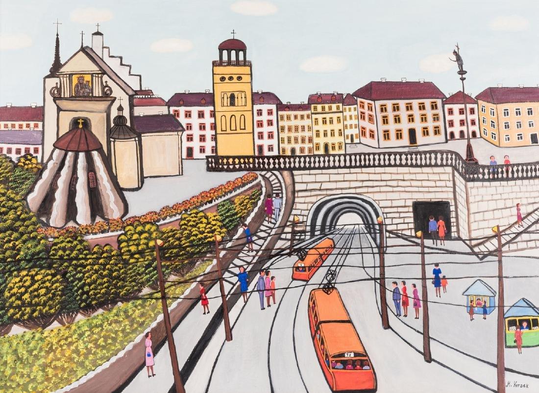 M. Korsak Painting  - Cityscape - 2