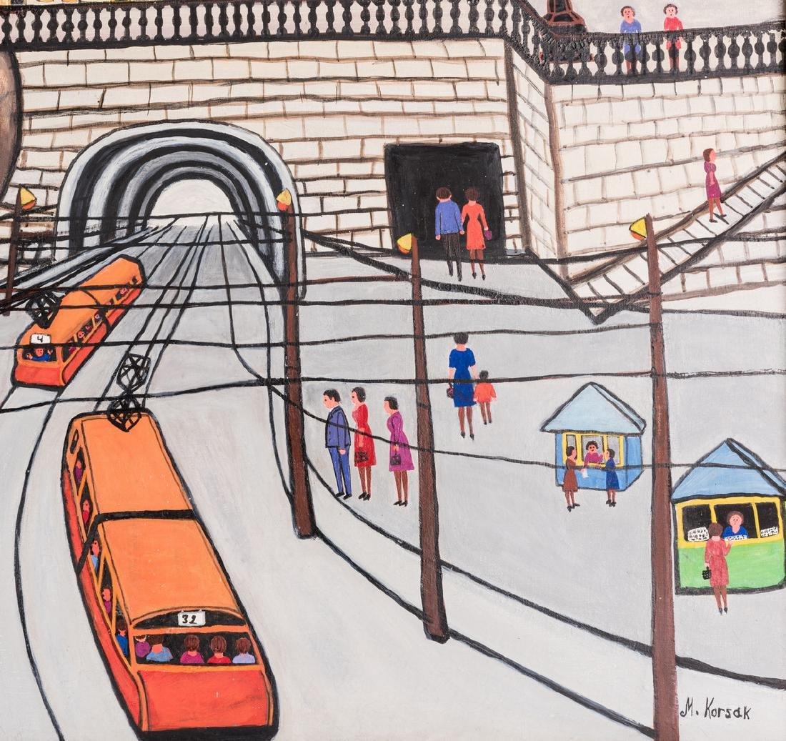 M. Korsak Painting  - Cityscape - 6