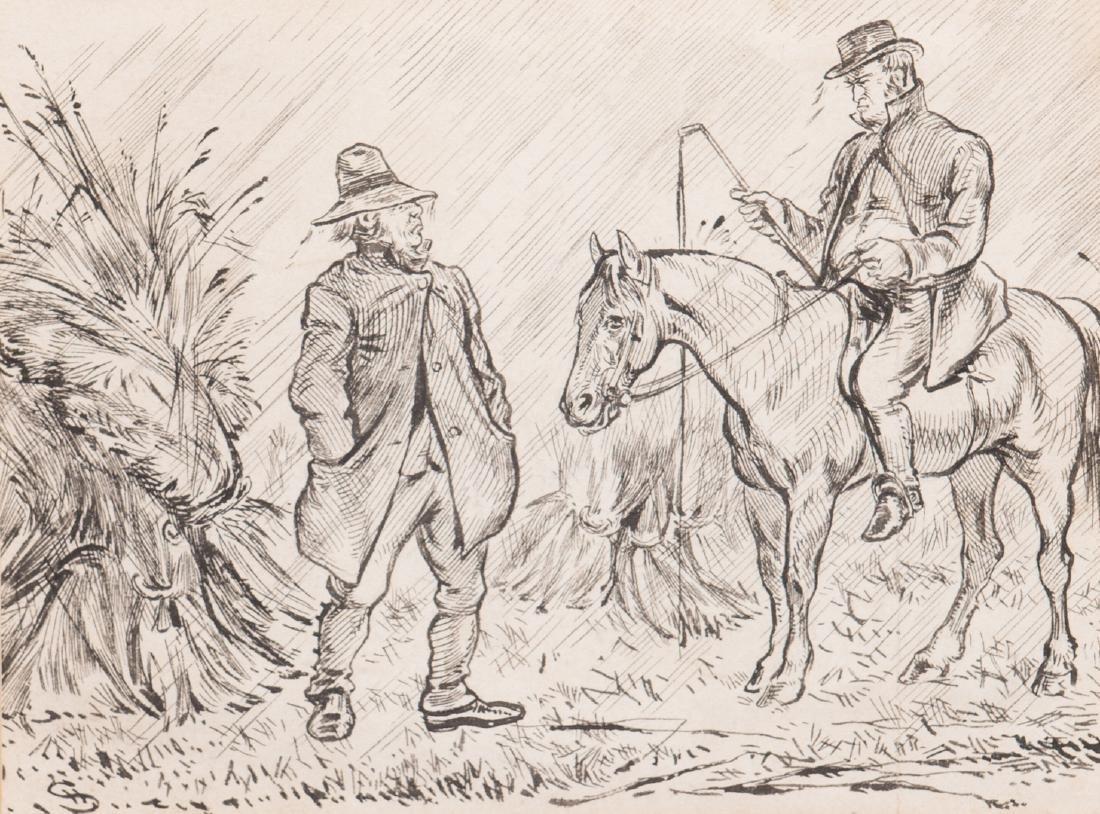 7 Henry Ardmore Sandercock Rural Ink Drawings - 10