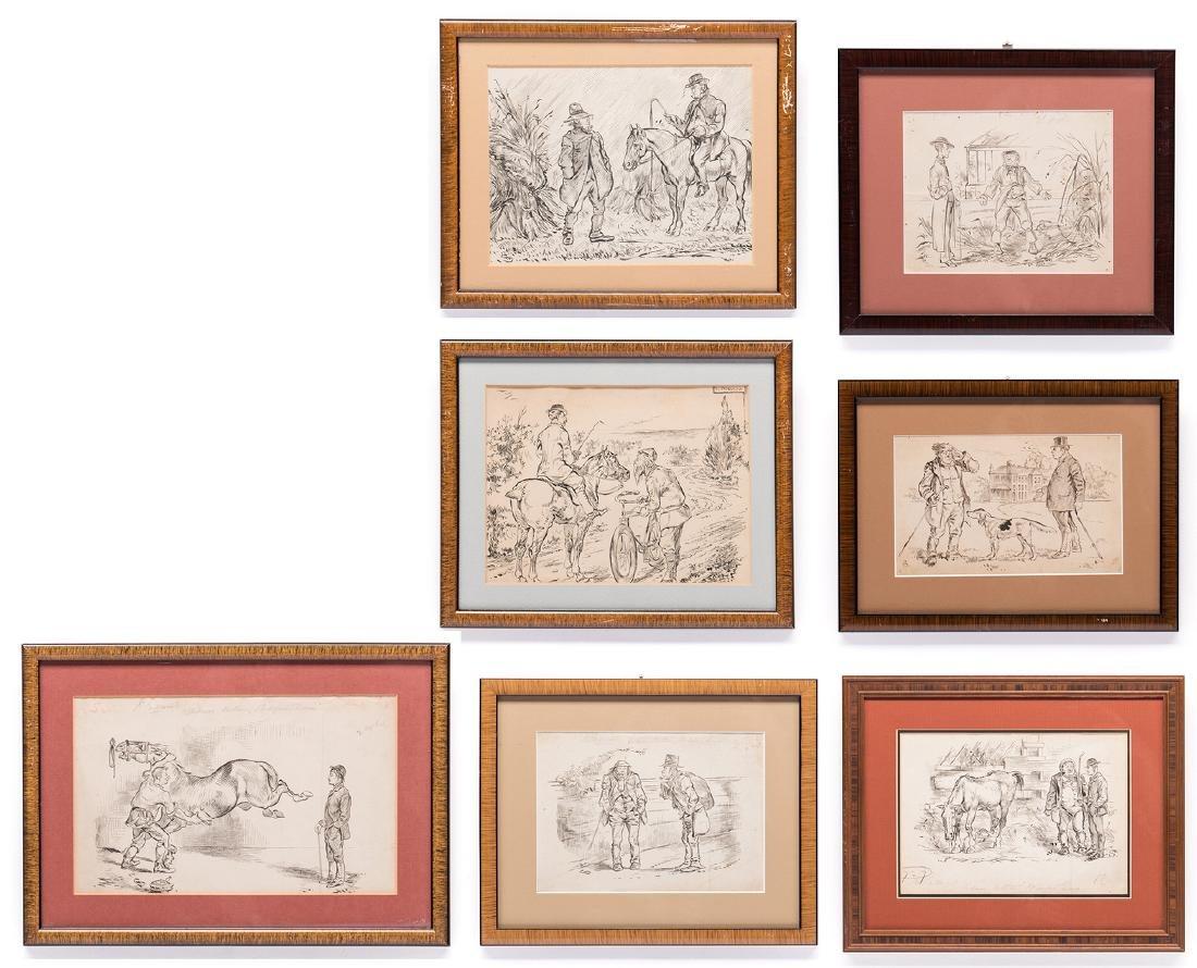 7 Henry Ardmore Sandercock Rural Ink Drawings