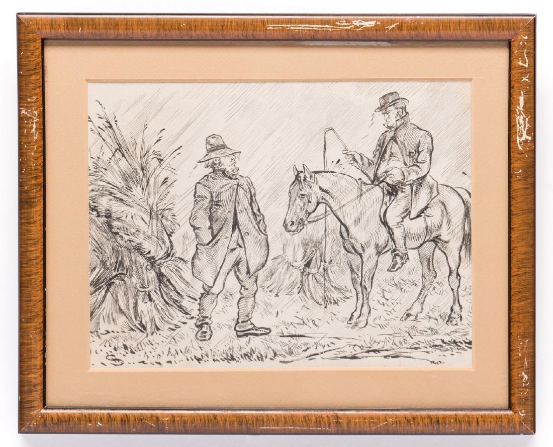 7 Henry Ardmore Sandercock Rural Ink Drawings - 2