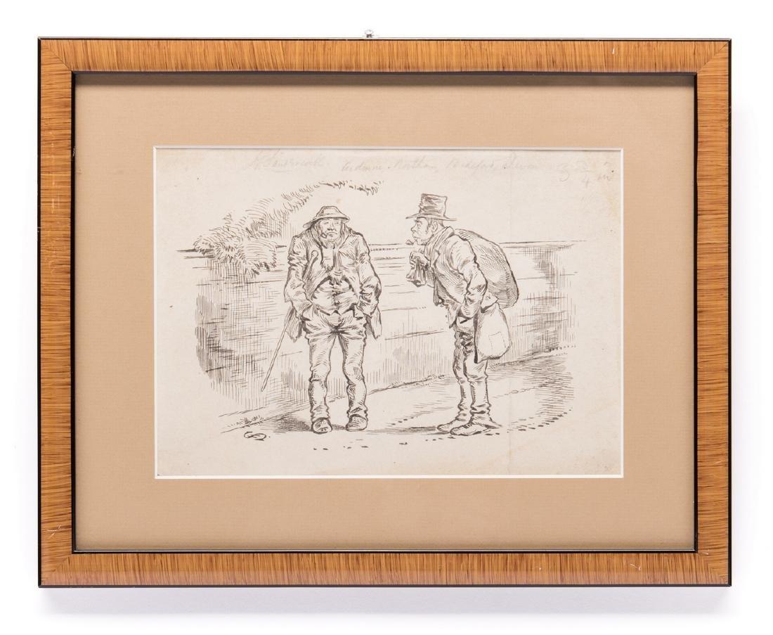7 Henry Ardmore Sandercock Rural Ink Drawings - 4