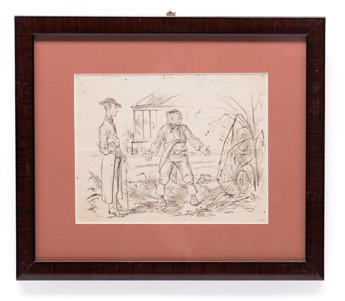 7 Henry Ardmore Sandercock Rural Ink Drawings - 5