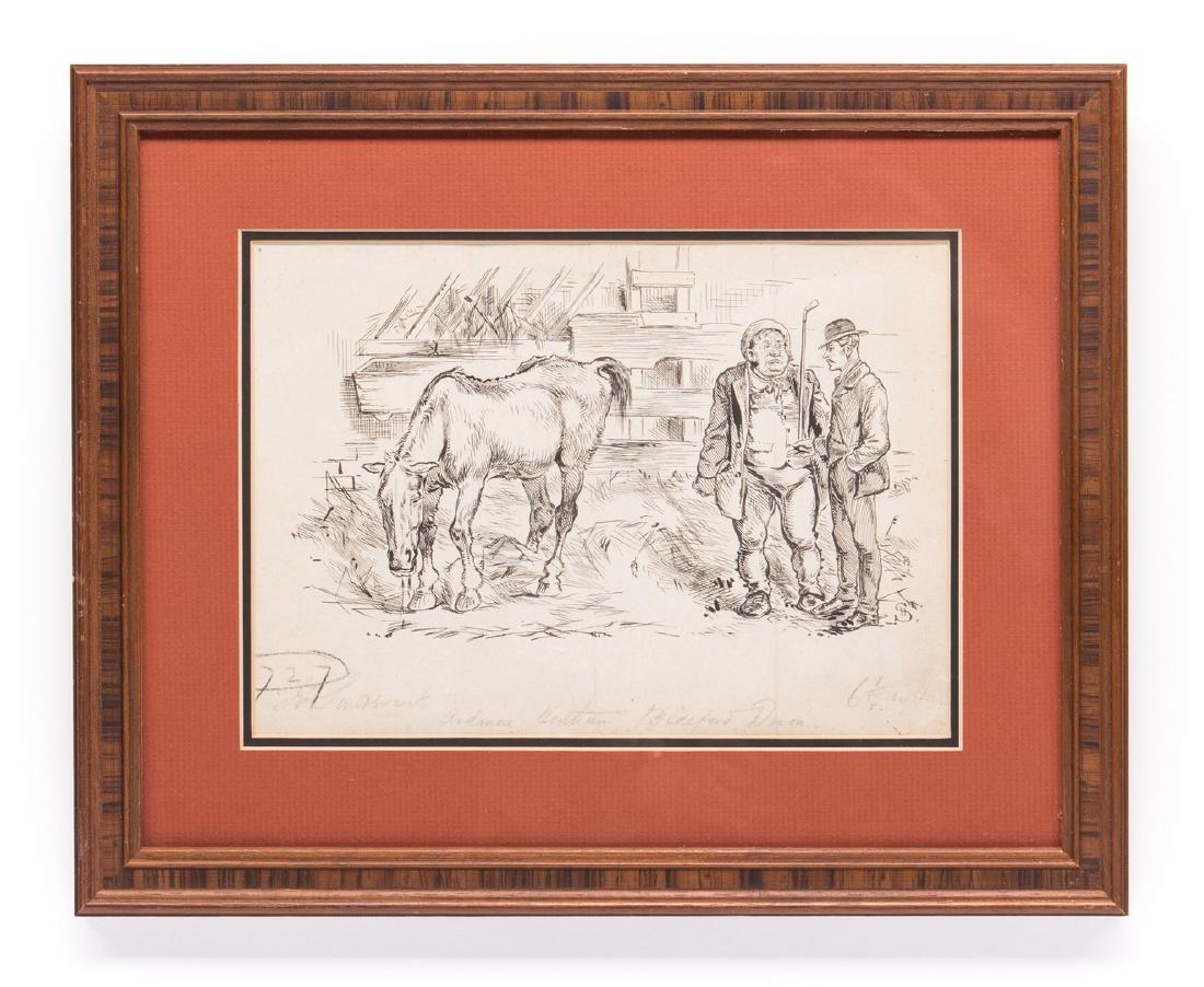 7 Henry Ardmore Sandercock Rural Ink Drawings - 7