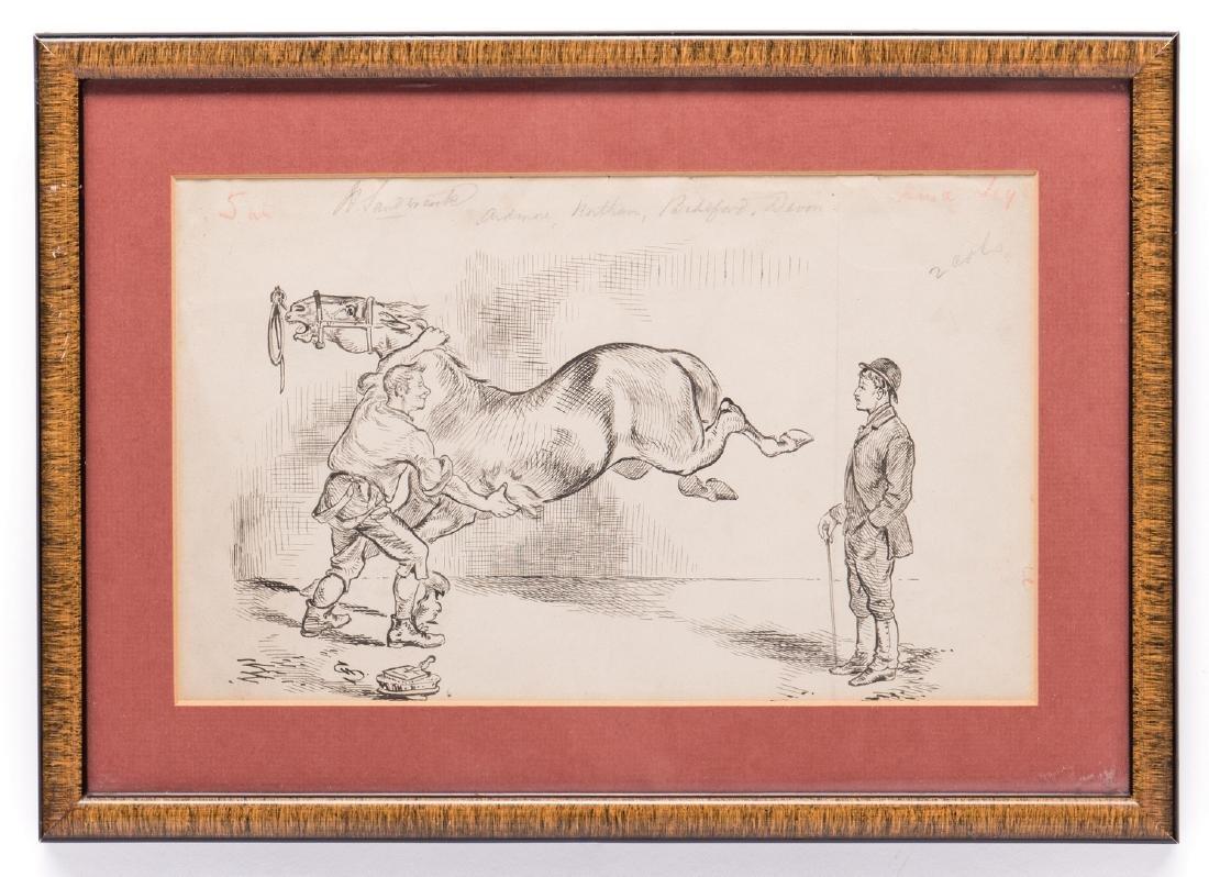 7 Henry Ardmore Sandercock Rural Ink Drawings - 8