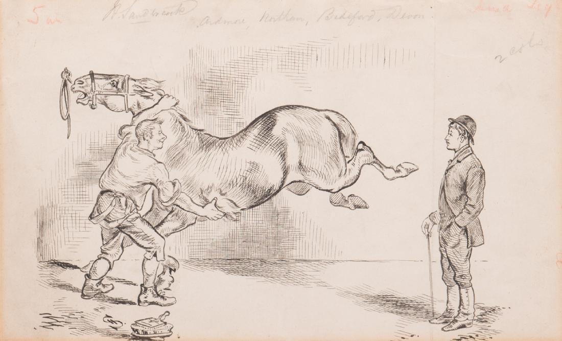 7 Henry Ardmore Sandercock Rural Ink Drawings - 9