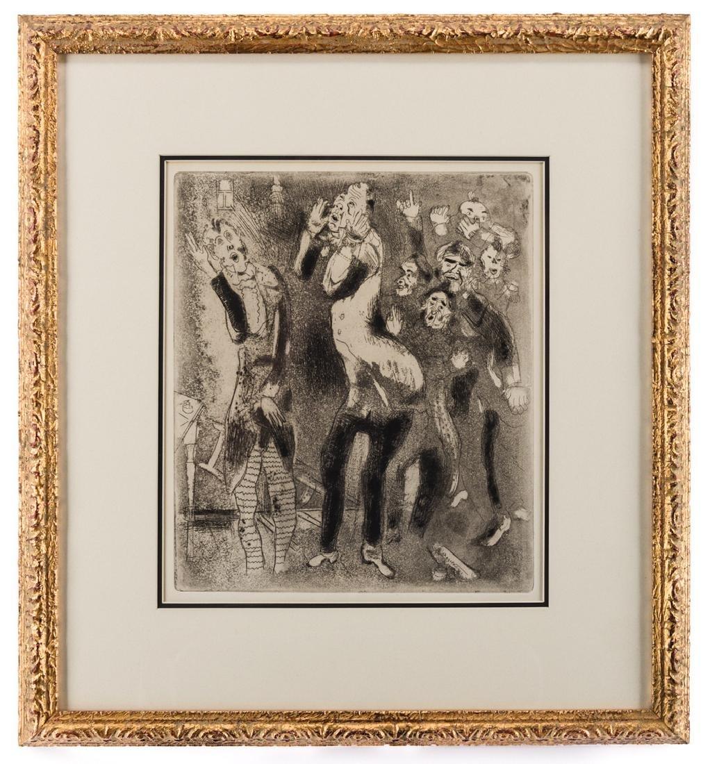 Marc Chagall Etching, Les Fonctionnaires Amaigris