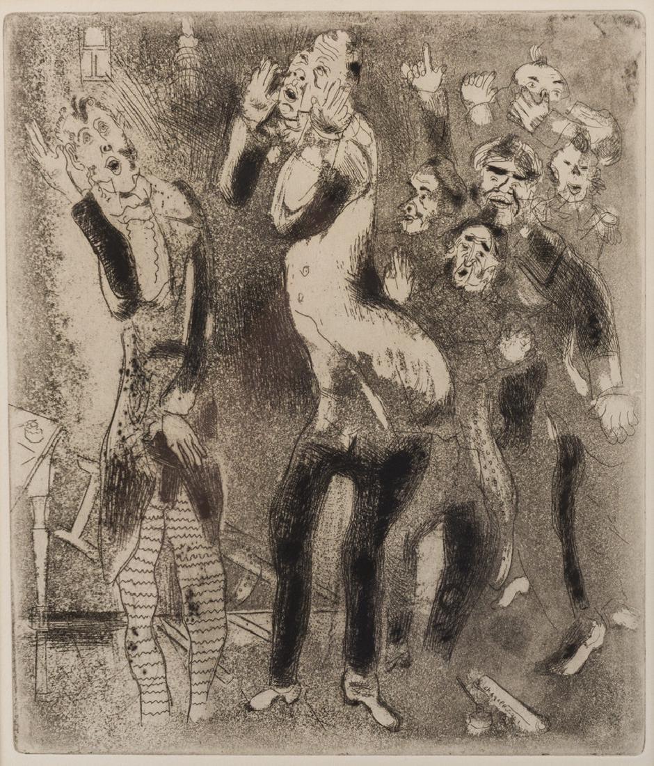 Marc Chagall Etching, Les Fonctionnaires Amaigris - 2