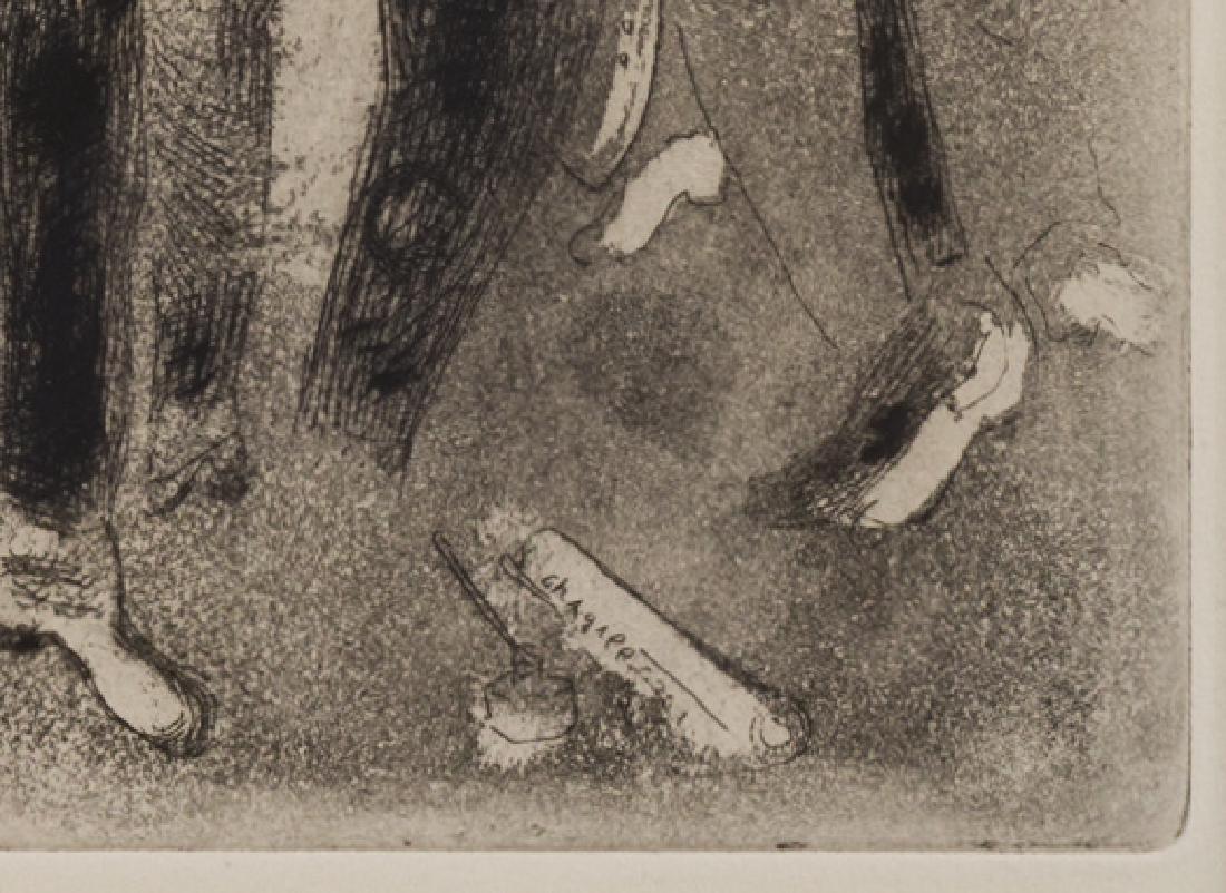 Marc Chagall Etching, Les Fonctionnaires Amaigris - 4
