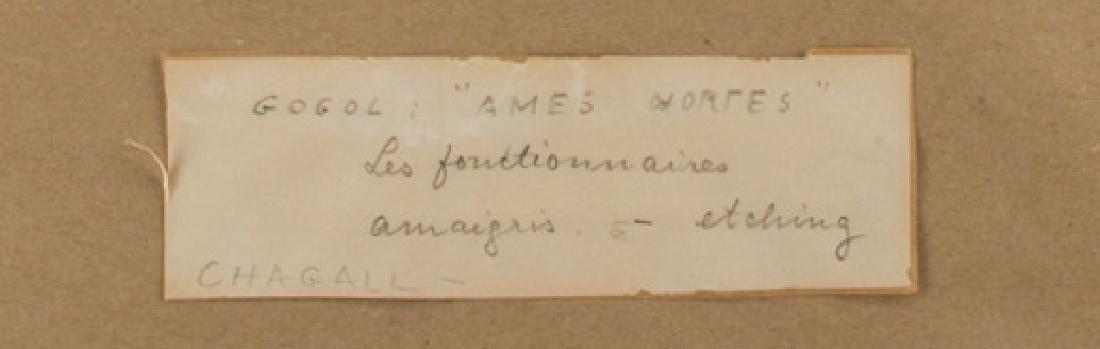 Marc Chagall Etching, Les Fonctionnaires Amaigris - 6