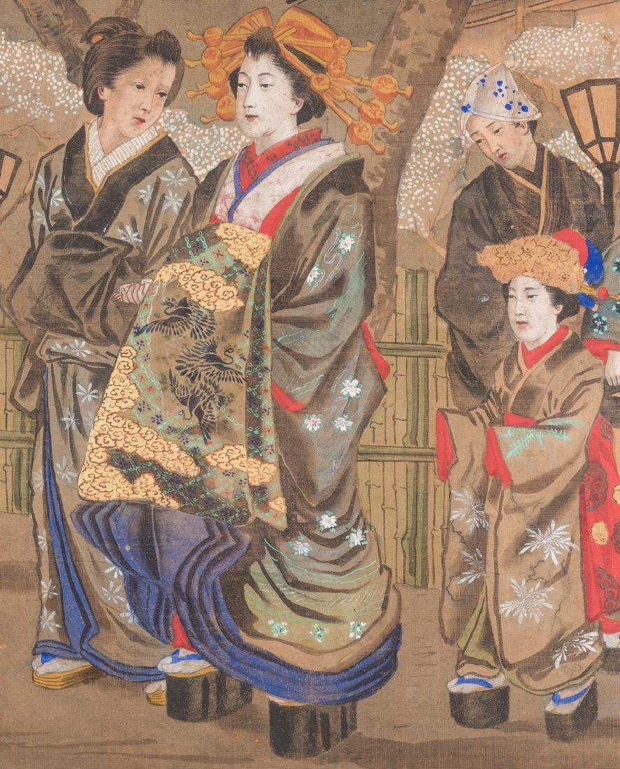 Japanese Painting on silk, Meiji Period - 4