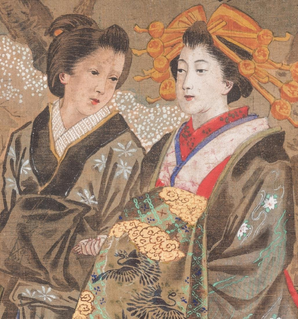 Japanese Painting on silk, Meiji Period - 5