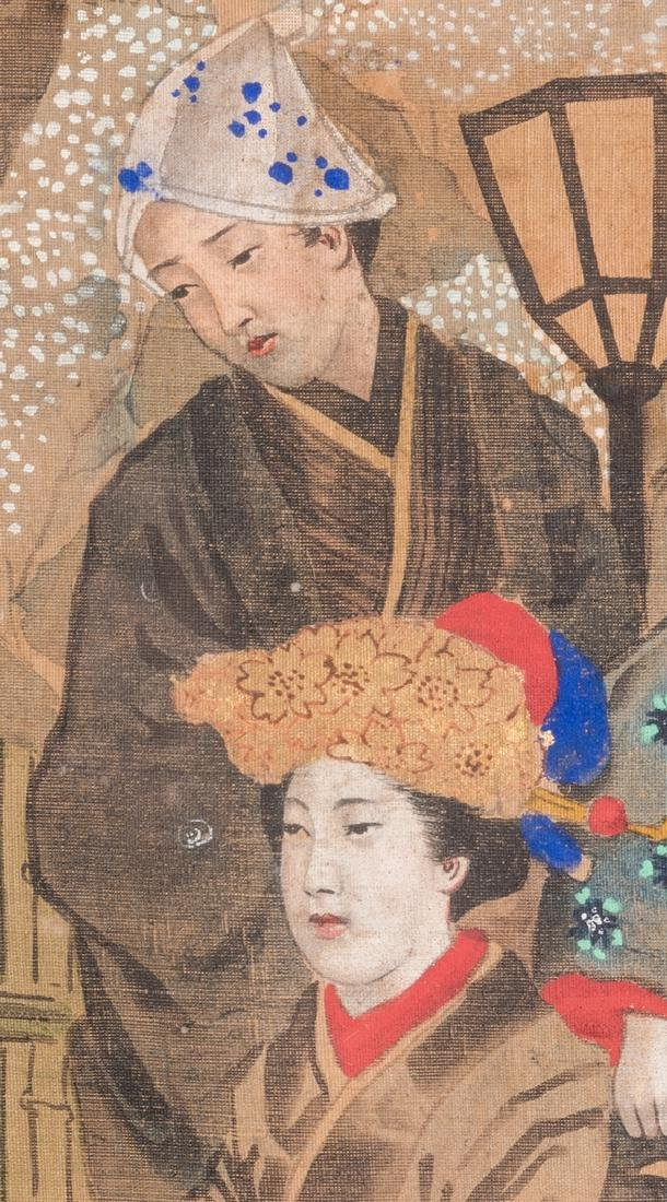 Japanese Painting on silk, Meiji Period - 6