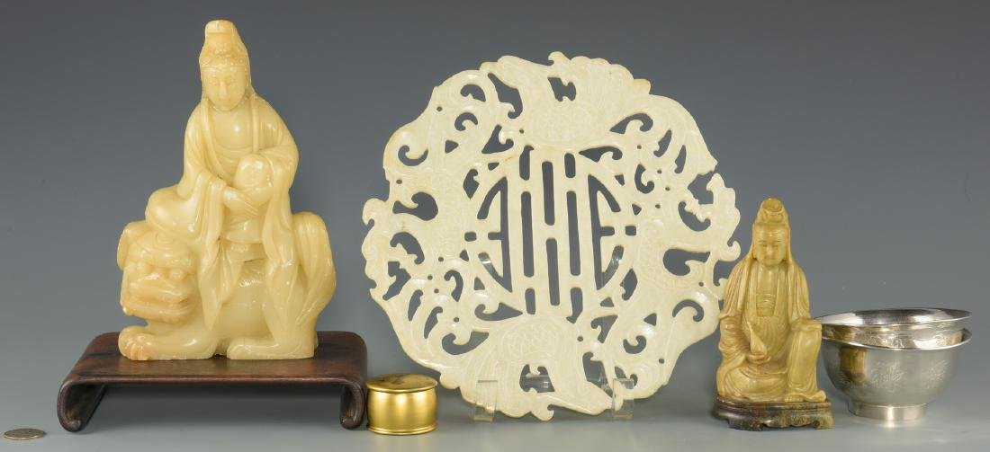 6 Chinese & Asian Decorative Items, inc. Silver