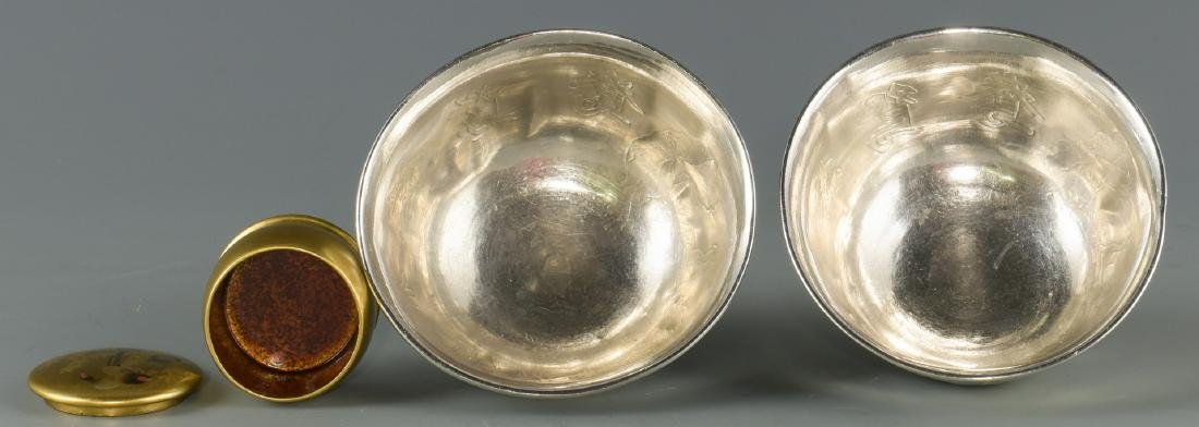 6 Chinese & Asian Decorative Items, inc. Silver - 9