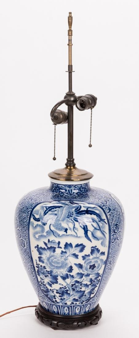 Chinese Porcelain Blue & White Lamp