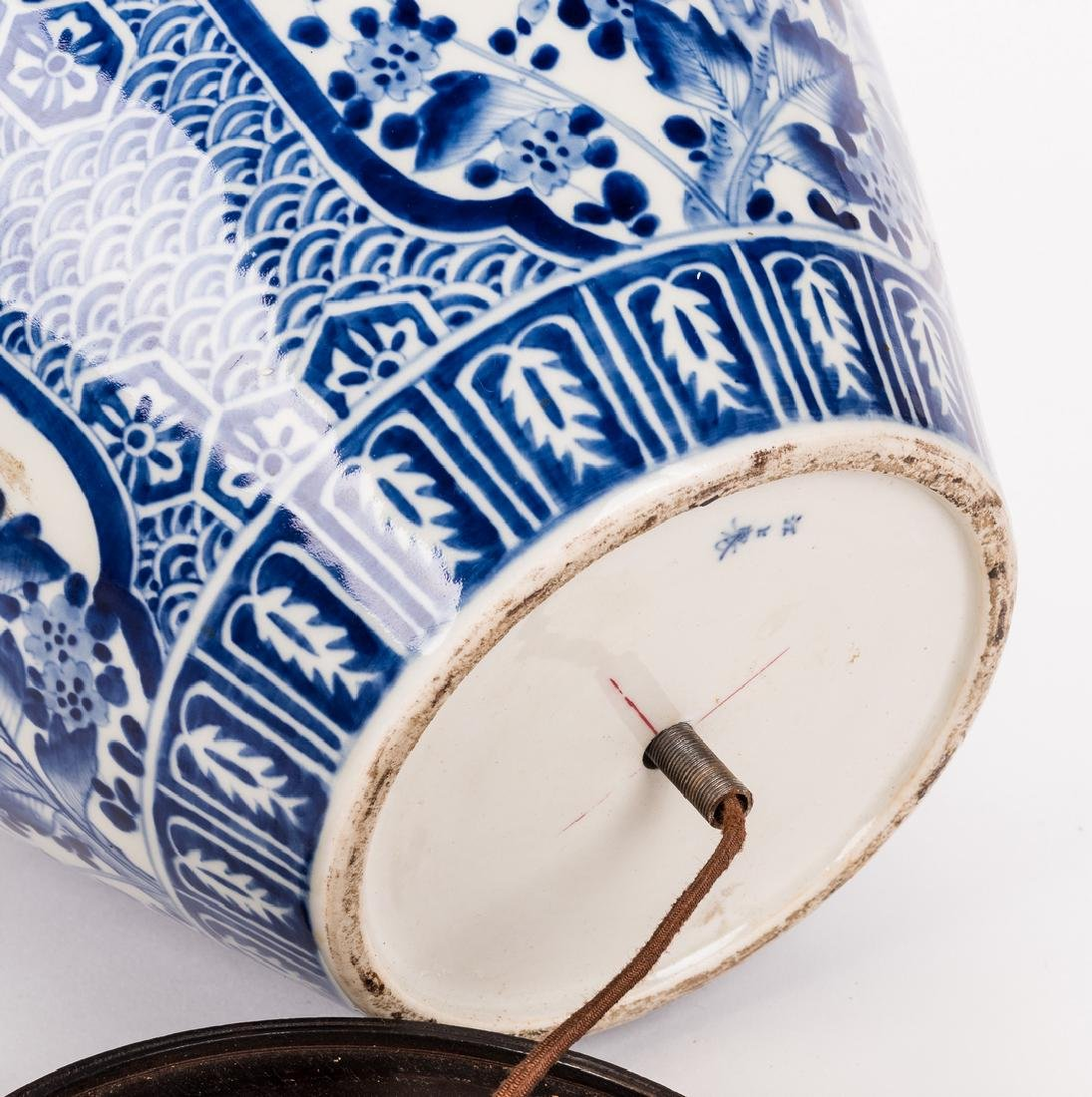 Chinese Porcelain Blue & White Lamp - 6