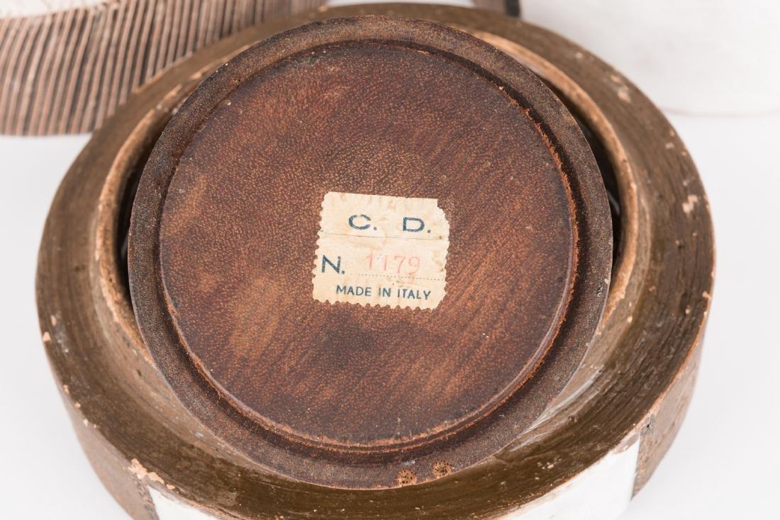 2 Midcentury Ceramic Lidded Jars, Raymor - 5
