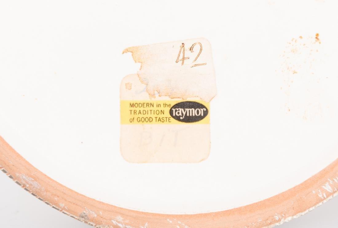 2 Midcentury Ceramic Lidded Jars, Raymor - 7