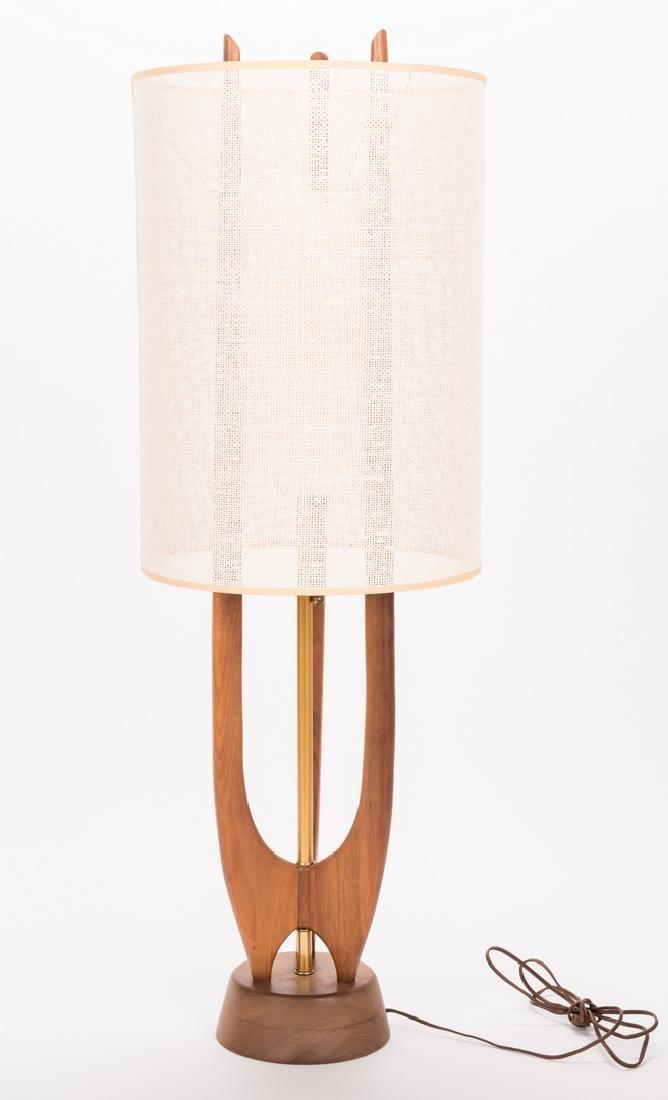 Mid-Century Modern Sculptural Teak Lamp