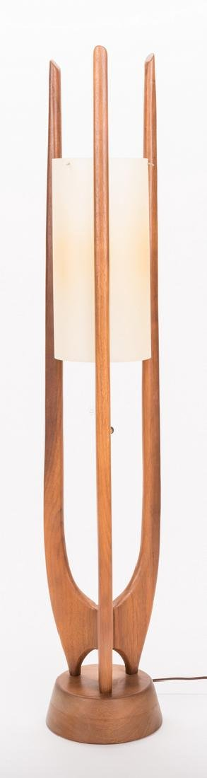 Mid-Century Modern Sculptural Teak Lamp - 3