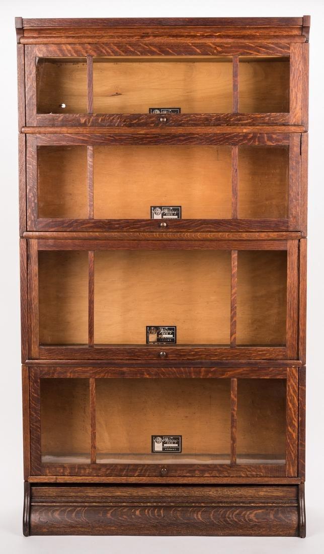 Viking 4-Stack Oak Sectional Bookcase